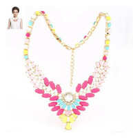 Cheap NEW High Quality Women Luxury Costume Fashion Chunky Necklaces & Pendants Chokers Crystal wing Gorgeous Statement jewelry N323