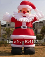 Wholesale outdoor Christmas decoration giant inflatable santa claus m with pc blower