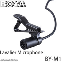 Wholesale BOYA Omnidirectional Lavalier Microphone for Canon Nikon Sony for iPhone S DSLR Camcorder Audio Recorders
