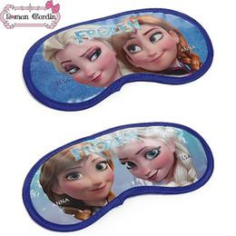 Wholesale Hot sale FashionFrozen Elsa Anna Kids Sleep Eye Mask Snwo Queen Princess Children Vision Care Eye Masks Childs Boys Girls Home Eye Patch gmy