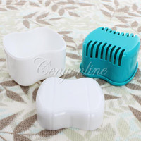 Cheap Cute Autoclavable Dental Denture Box Container Orthodontic Retainer Case Holder For Mouthgard Bitegard Free Shipping