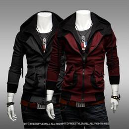 Wholesale NEW HOT Men s Slim Mixed colors Personalized Thin Hoodies amp Sweatshirts Jacket Coat mjc431