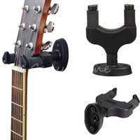 Cheap Free Shipping Black Nylon Electric Guitar Villion Instrument Wall Hanger Holder Stand Rack Hook Mount AH-81 For All Size BLK