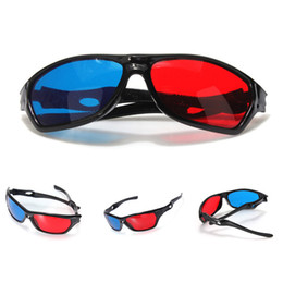 Wholesale Black Frame Red Blue Cyan Lens Plasma TV DVD Movie Dimensional Anaglyph Framed D Vision Glasses Acrylic Plastic
