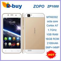"Cheap 100% Original ZOPO ZP1000 MTK6592 Cortex A7 Octa core 1.7GHz Android 4.2 smart phone 5""FHD highscreen 5mp 14mp camera OTG"