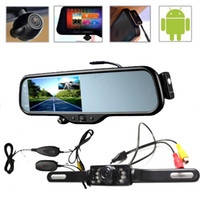 "Cheap transmitter 5"" LCD Android 4.0 Car Navi GPS + Car Rear view Mirror + FULL HD 1080P DVR + 3G Wifi +Wireless Car Reverse Camera+Bluetooth+Map"