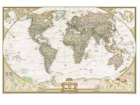 Cheap Free Shipping 2014 Vintage Style Archaize Exquisite Canvas World Map Word that on the map is English 130*90cm