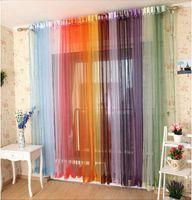 Wholesale Sheer Window Treatment Curtain voile curtains Gauze Curtain cm