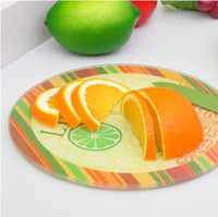 Wholesale 052520 creative kitchen utensils grind arenaceous toughened glass thickening chopping board new design cutting boards