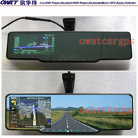 Cheap transmitter 4.3 inch Rear View Mirror GPS with DVR, Bluetooth,FM AM,Wireless Camera, Radar Detector, with Special Bracket