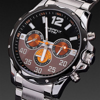 Cheap EYKI Men Watch 2014 Stainless Steel Band Overfly 1ATM Japan Movement Quartz Analog Date Display Brand Name Free Shipping