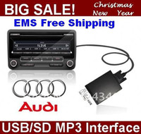 Cheap transmitter Car CD Player USB SD+Aux-In Audio interface for ab.1999- 2006 Audi A2, A3, S3, A4, S4, A6