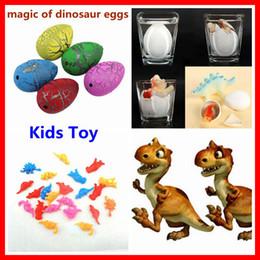 Wholesale 12PCS Hatching Growing Dinosaur Dino Eggs Add Water Magic Cute Children Kids Toy