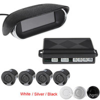 Wholesale 4 x car parking sensors Kit reverse backup radar buzzer system with LED Display for car security CAL_220