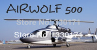 airwolf scale - Brand New Airwolf Scale Fuselage size Scale Body Black RC fuselage by EMS