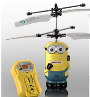 Wholesale Hot sales despicable me minion toys rc helicopter Children s gifts remote control aircraft