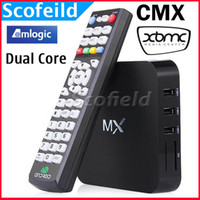 Wholesale CMX MX Amlogic G BOX AML8726 MX Android TV BOX Dual Core G G Built in XBMC P Android Can support MX Linux OpenELEC