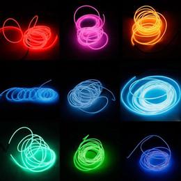 3M LED Flexible EL Wire Rope Tube Lamp Light With Controller For 10 Colors Xmas CAR party decoration