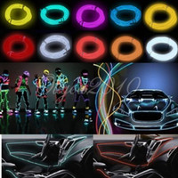 green shoelaces - 3M LED Flexible Neon Light EL Wire Rope for Dance Party Car Controller White blue green red pink purple orange yellew