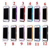 Wholesale Luxury Aluminum Metal Case Thin mm Aluminium Frame Bumper Cases For iPhone S G S G PC FEDEX