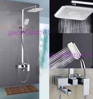shower mixer - And Retail NEW Chrome Brass Water Pressure Boosting Bathroom Rain quot Shower Mixer Tub Faucet Shower Set