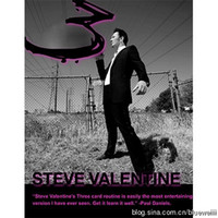Wholesale Teaching three card poker magic flow Steve Valentine Card Routine magic video send by email accept paypal