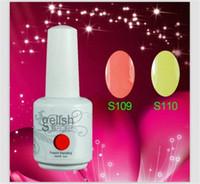 Wholesale 2014 Newest arrival Gelish Nail Polish Soak Off Nail Gel For Salon UV Gel Colors ml supply freeshipping