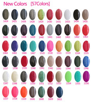 Wholesale 2014 Hottest item Gelish Nail Polish Soak Off Nail Gel For Salon UV Gel Colors ml supply freeshipping