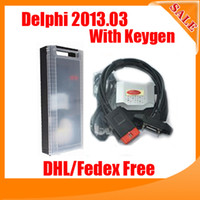 Wholesale Promotion price New Delphi VCI without Bluetooth R2 software with keygen DHL
