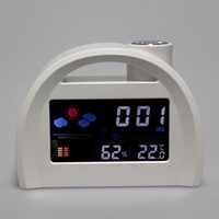 Cheap other Weather Station Clock Best white led Calendar Alarm Clock
