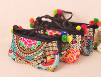 hmong - New Arrival Hmong Handmade Embroidered bags Fashion Vintage women embroidery shoulder messenger bags Ethnic small handbags Cross Bag