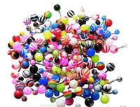 Wholesale 50pcs Belly Ring Assorted Banana Piercing G Belly Button Rings Piercing Jewelry Mix Color