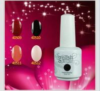Wholesale New Hot Gelish Nail Polish Soak Off Nail Gel For Salon UV Gel Colors ml amazing