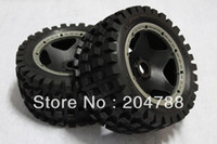 Cheap Wholesale-407- , baja 5B tire Monster tire rear completed set with black rim