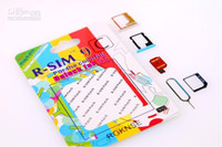 Wholesale R SIM RSIM9 R SIM9 Pro Perfect SIM Card Unlock Official IOS for iphone S G S C GSM CDMA WCDMA