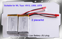 Wholesale V mAh S C Lipo Battery For WLtoysV913 L959 L979 For WD RC Hobby Buggy car Spare Parts Accessory send by s