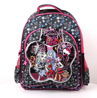 bag zombies - Retail Monster high zombie girl children s school bags fashion girls backpacks schoolbag Backpack cartoon