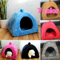 Wholesale NEW Yurt kennel Multi color yurts pet nest Teddy high quality flannel dog house color S M L