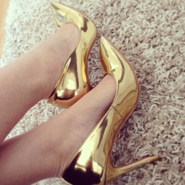Discount Cheap Gold Glitter Pumps  2016 Cheap Gold Glitter Pumps