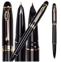 office stationery set - BLACK Fountain pen Medium Hooded Nib HERO school supplies standard pens stationery set wholeale Free Express Shipping