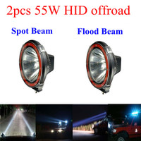 Wholesale 2pcs quot W offroad HID xenon Driving Light Work Light spot flood Beam Fog Light for SUV EMS