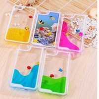 Cheap Freely Swimming Fishes Movable Hard Case Cover Skin for Apple iPhone 5 5S 4 4S
