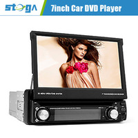 Wholesale 7 inch Din In Dash Car DVD Player With Bluetooth Navigation Read GPS RDS Detachable Panel TV Western Europe Map Card