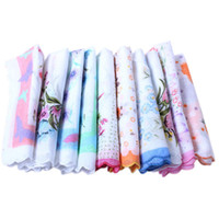 Wholesale Good flower CUTTER LADIES VINTAGE COTTON HANKY FLORAL HANDKERCHIEF HOT XH
