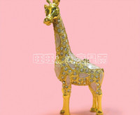tin crafts - Metal jewelry box diamond giraffe animal giraffe ornament crafts ornaments Color tin crafts jewelry Business Gifts