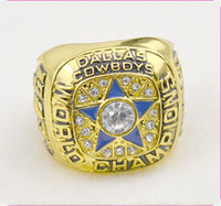 Wholesale Championship Rings Dallas Cowboys k Gold Ring Silver Men s luxury fans collectibles