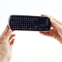 Slim IPad & Tablet 2.4G iPazzPort 2.4G Mini Wireless Keyboard Voice Speaker Microphone + IR Remote for google TV BOX C1458