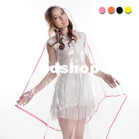 used bicycles - Fashion transparent raincoat female poncho both for hiking and bicycle use