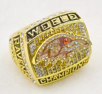 Anillos de campeonato De 2000, los Cuervos de Oro 18k Anillo de 925 Hombres de Plata de lujo de los fans de coleccionables