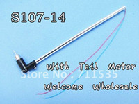 alloy rc parts - Syma S107 Tail Boom Component With Tail Drive Motor Spare Parts For cm Metal Alloy Ch RC S107 S107G S105 S105G Helicopte